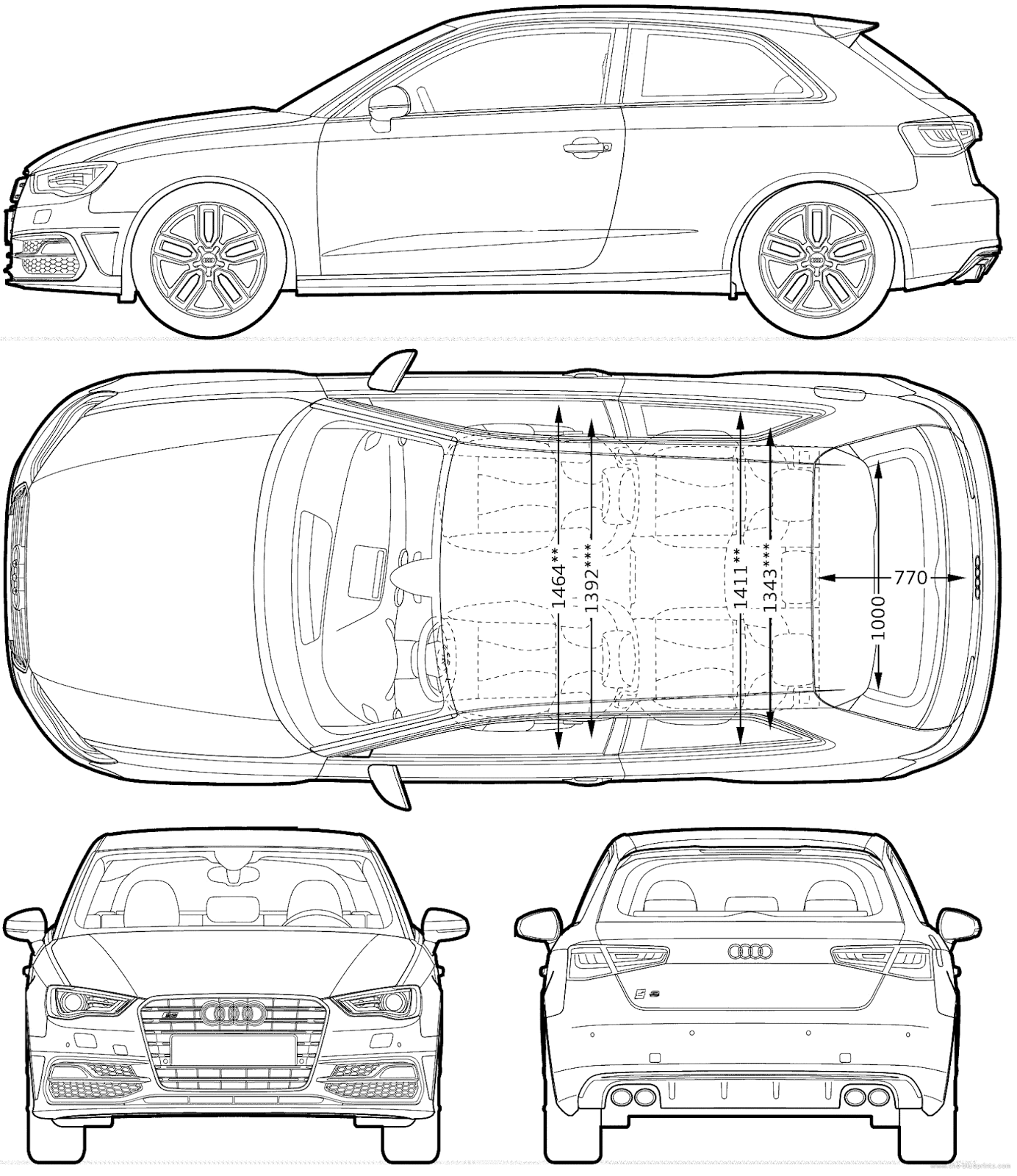 Cgfrog most loved car blueprints for 3d modeling for Blueprint builder free