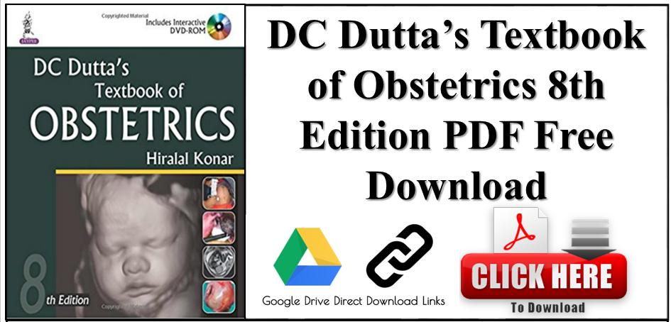 DC Dutta's Textbook of Obstetrics 8th Edition PDF Free