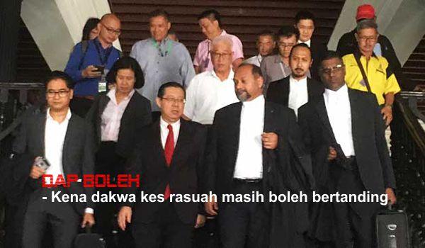 PRU14: DAP boleh - Kena dakwa kes rasuah masih boleh bertanding