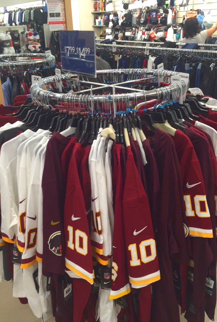 newest 277de dd7c6 New Columbia Heights: Marshall's selling $8 RGIII Redskins ...