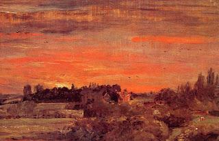 Cuadro de un estudio al oleo de John Constable