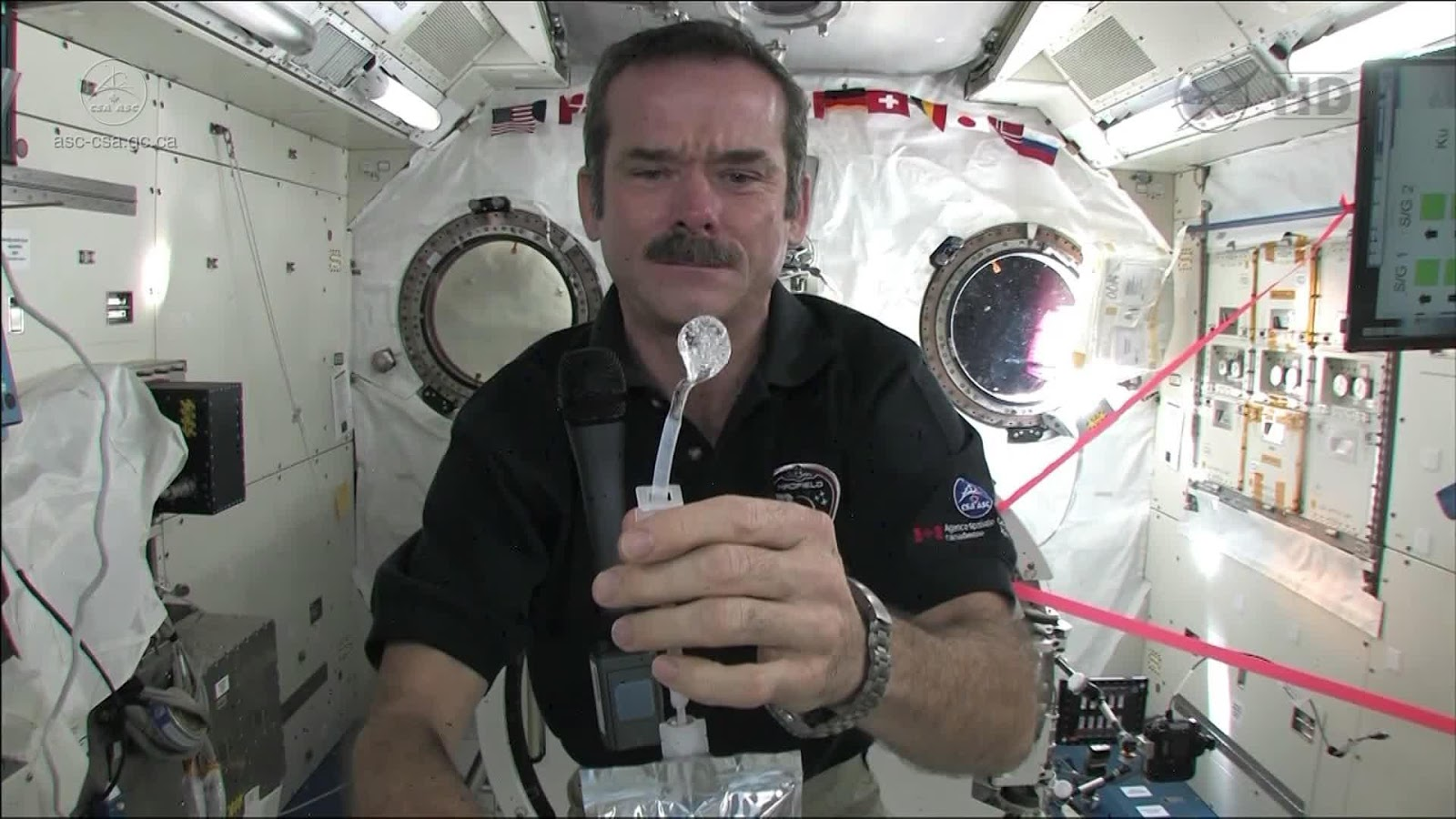 astronaut drinking beer in space-#23