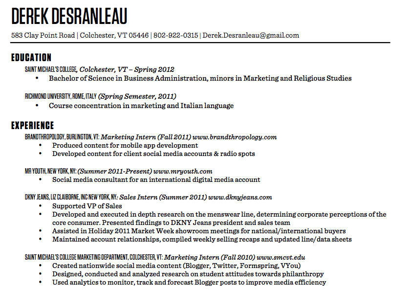 results of our resume make over techrepublic critiques your make me a resume
