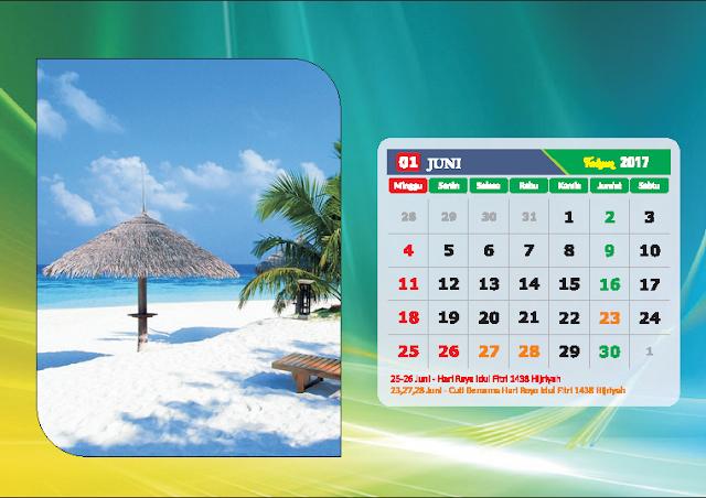 Kalender Bulan Juni 2017