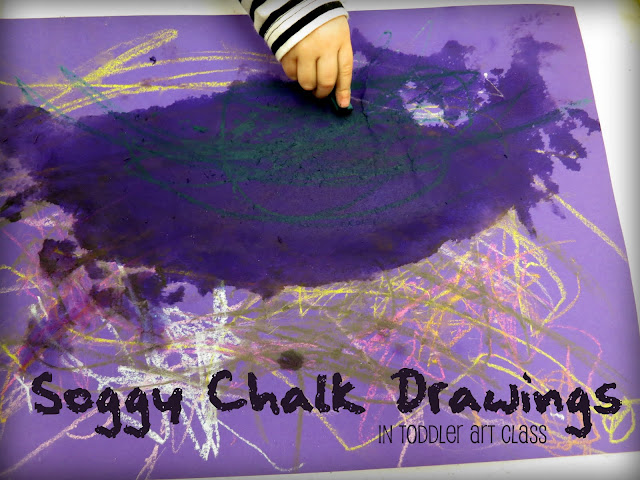 http://librarymakers.blogspot.com/2012/10/toddler-art-soggy-chalk-drawings.html