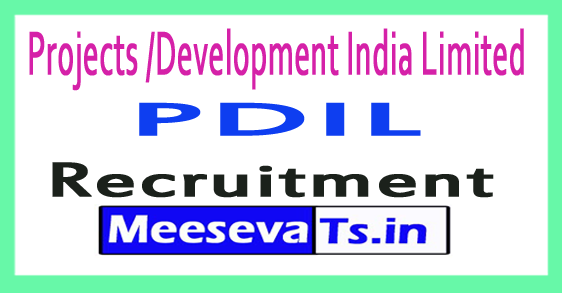Projects /Development India Limited PDIL Recruitment 2017