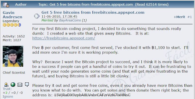 gavin adresen bitcoin talk btc faucet