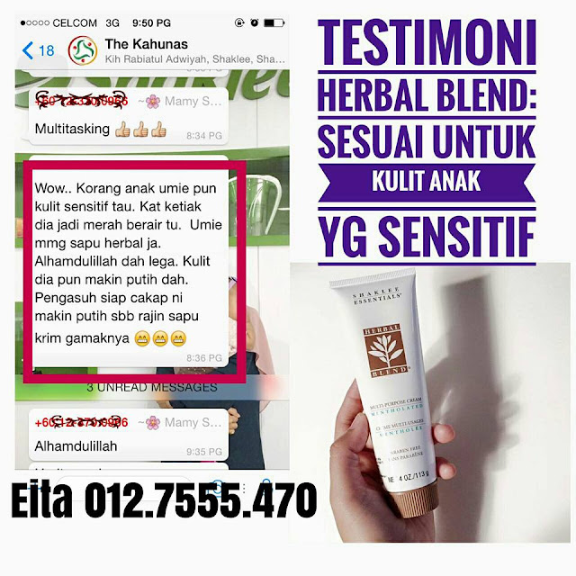 testimoni herbal blend shaklee