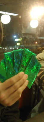 Waffle House card games green sleeves grease