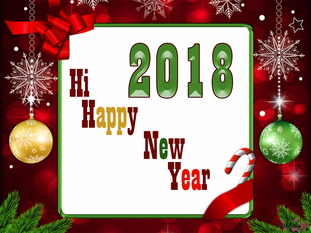 Poetry and Worldwide Wishes: Happy New Year 2018 with Red and Golden ...
