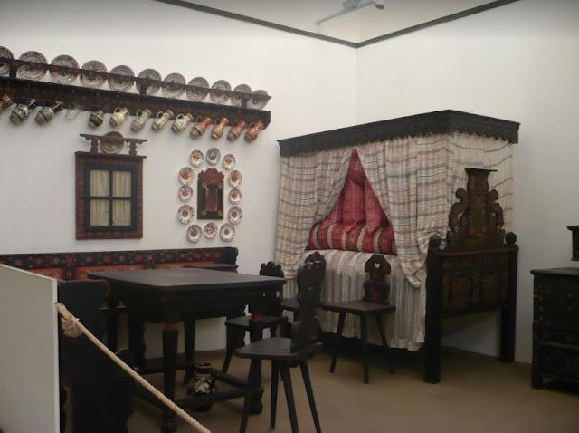Ricostruzione di un ambiente nel Museo etnografico di Budapest