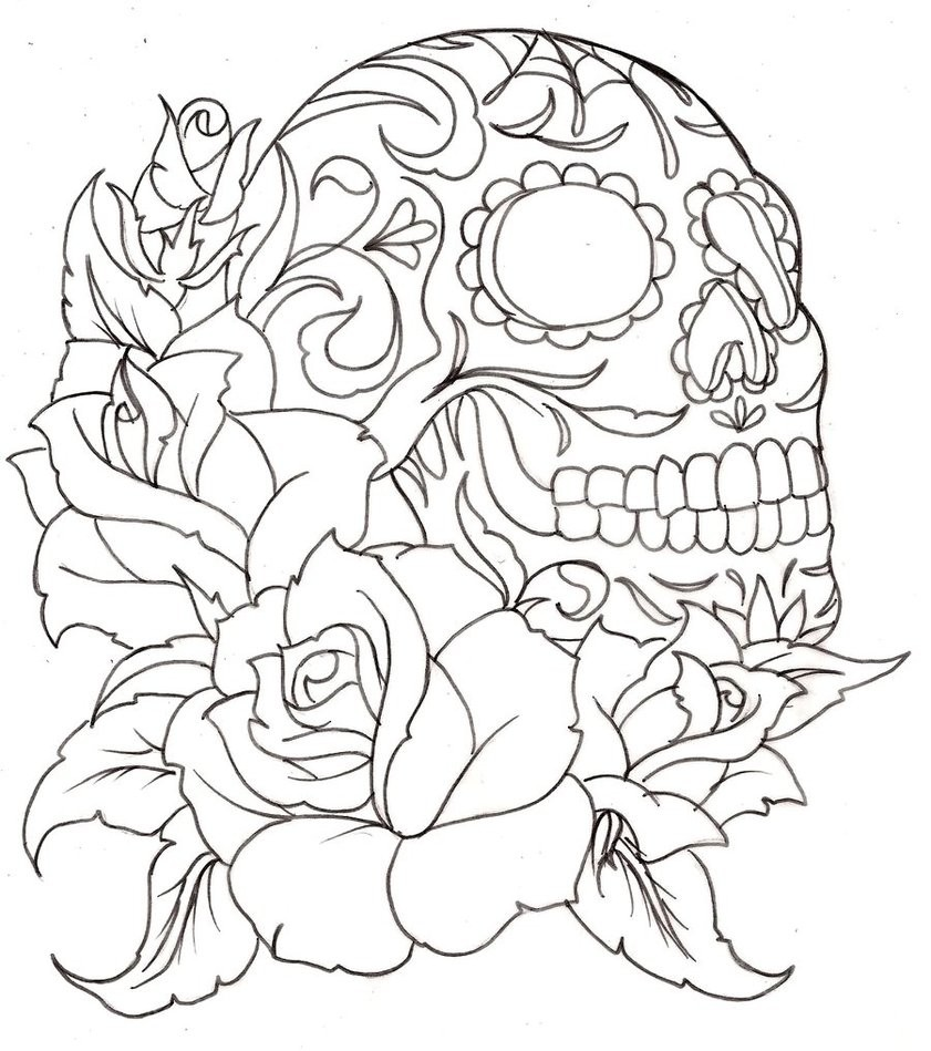 Unique cool coloring pages of skulls image coloring for Unique coloring pages for adults