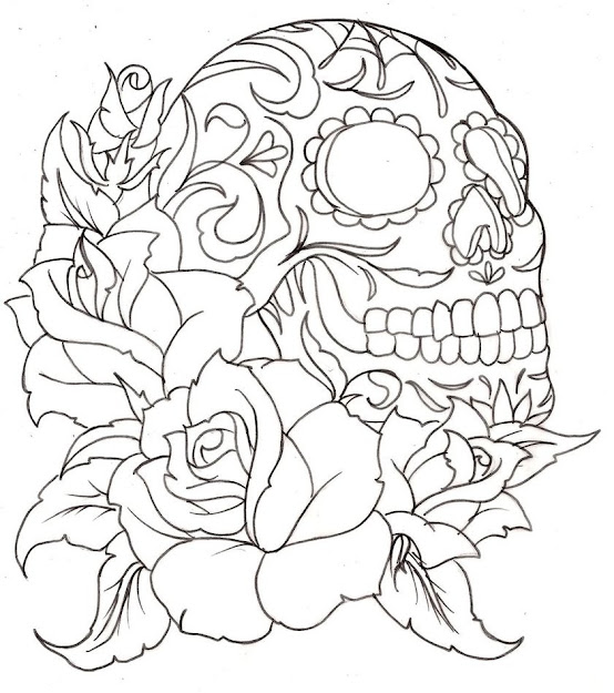 Day Of The Dead Coloring Pages For Adults  Skullcoloringpagesfor