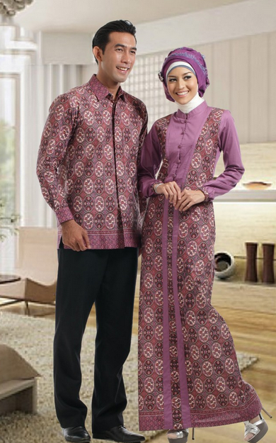 13 Contoh Model Baju Batik Couple Dengan Desain Terbaik