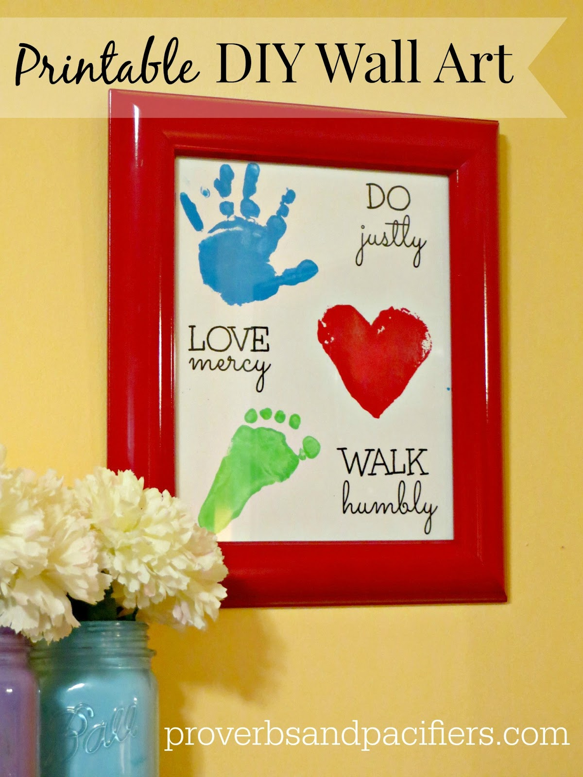 Proverbs and Pacifiers: {Printable} Micah 6:8 Wall Art Craft for Kids