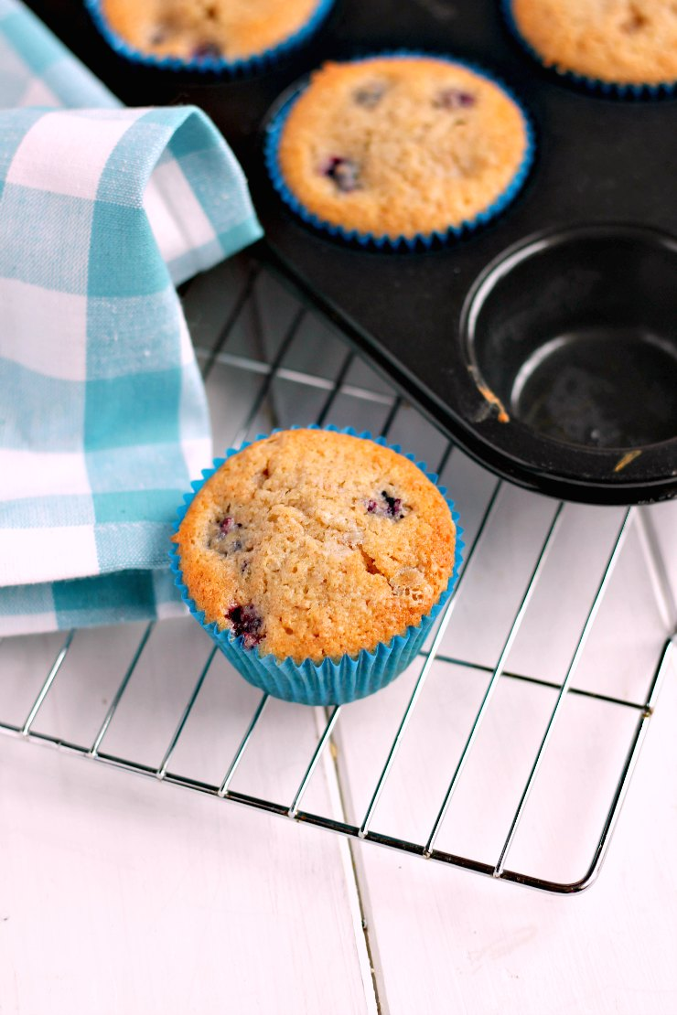 Jam and Clotted Cream: Blackberry & Raspberry Muffins