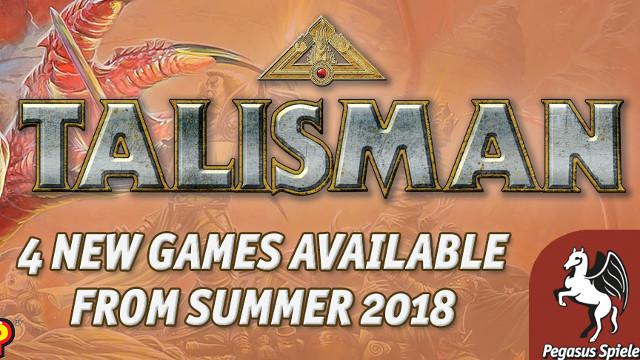 Pegasus Spiele announce 4 new Talisman games