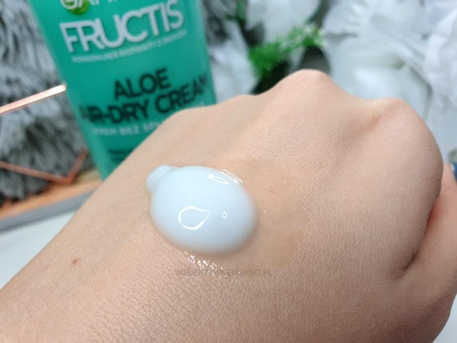 Aloe Air Dry Cream Fructis krem bez spłukiwania Garnier opinie, test