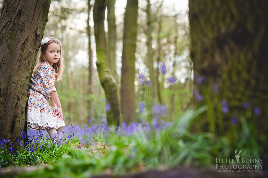 bluebell child portrait session in London Leytonstone Walthamstow