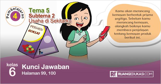 Kunci Jawaban Tematik Tema 5 Kelas 6 Halaman 99, 100 Kurikulum 2013