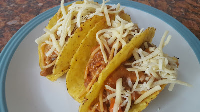 Spaghetti Tacos with Cheese