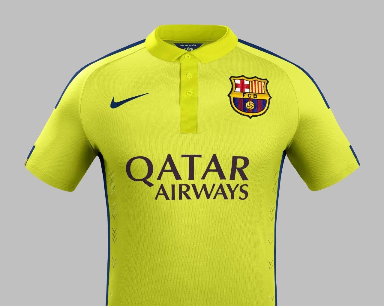 brand new 666ae 56194 FlagWigs: FC Barcelona 2014-2015 Away Jersey Shirt Kits ...