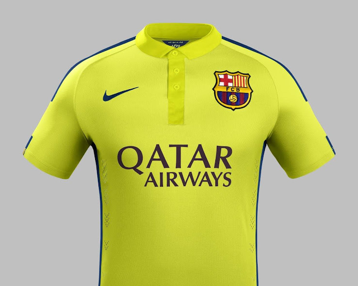 watch 7b0d0 b4e42 FC Barcelona 14-15 (2014-15) Home, Away and Third Kits ...