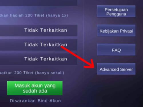 Syarat Masuk Advance Server Mobile Legends yang Penuh