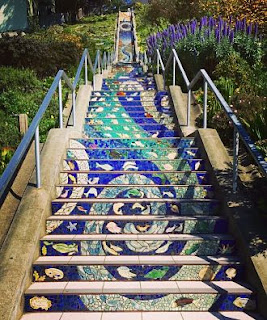 16th Ave Tiled Steps Project - 163 separate mosaic panels
