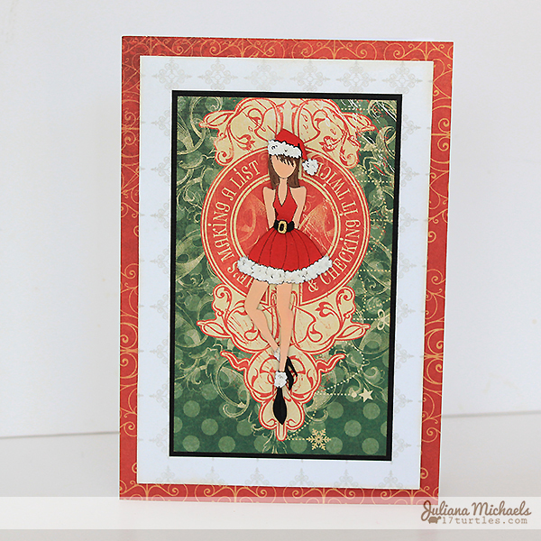 Naughty or Nice Nutting Doll Christmas Card by Juliana Michaels