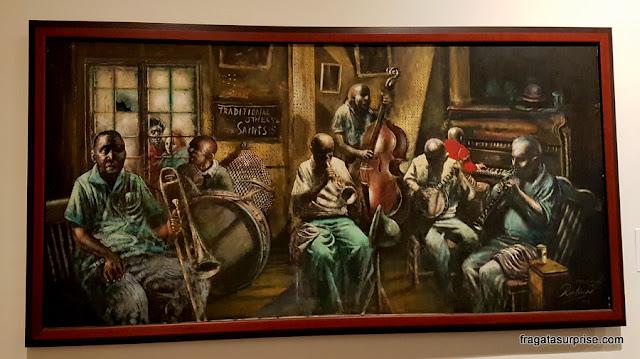Tela de Noel Rockmore no Museu do Jazz de Nova Orleans