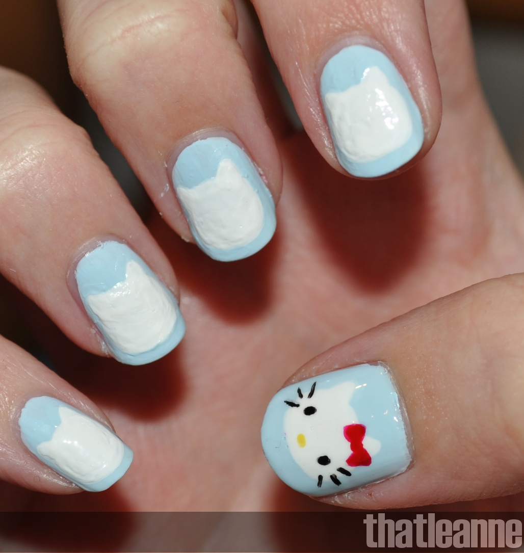 Thatleanne Hello Kitty Nail Art With Essie Wedding 2011 Swatches