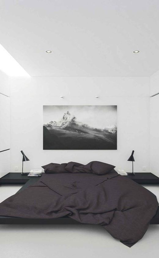Ways to Make Your Bedroom More Peaceful 30+ Best Interior Design Ideas : Mixing of Modern in addition to Minimalist Style