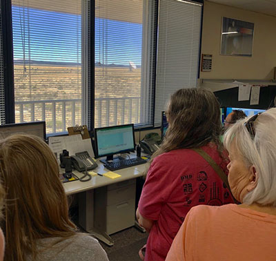 Our VLA tour includes an inside look at the VLA control room (Photo: Palmia Observatory)