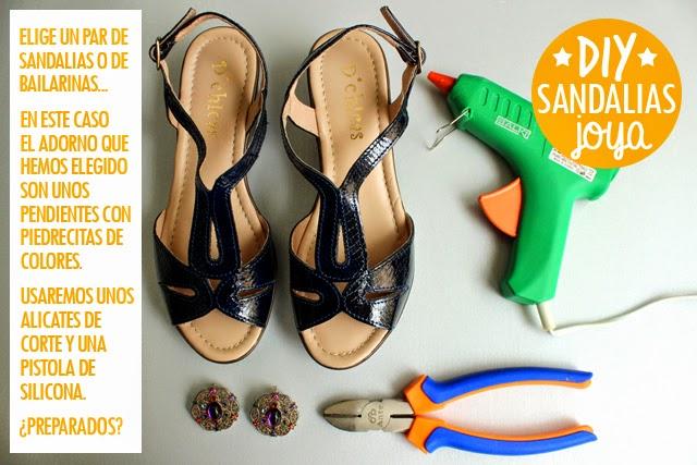 manualidades diy sandalias joya
