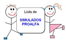 Lista de SIMULADOS PROALFA