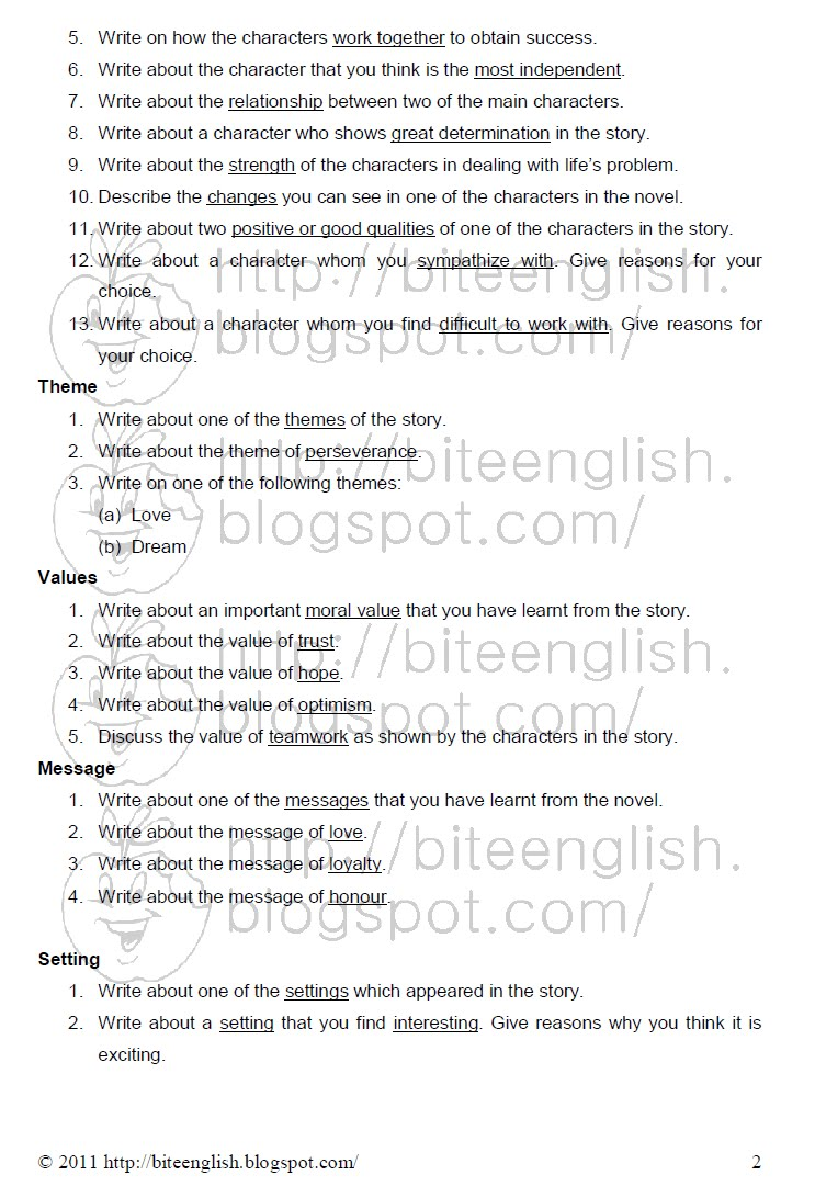 English short essay pmr