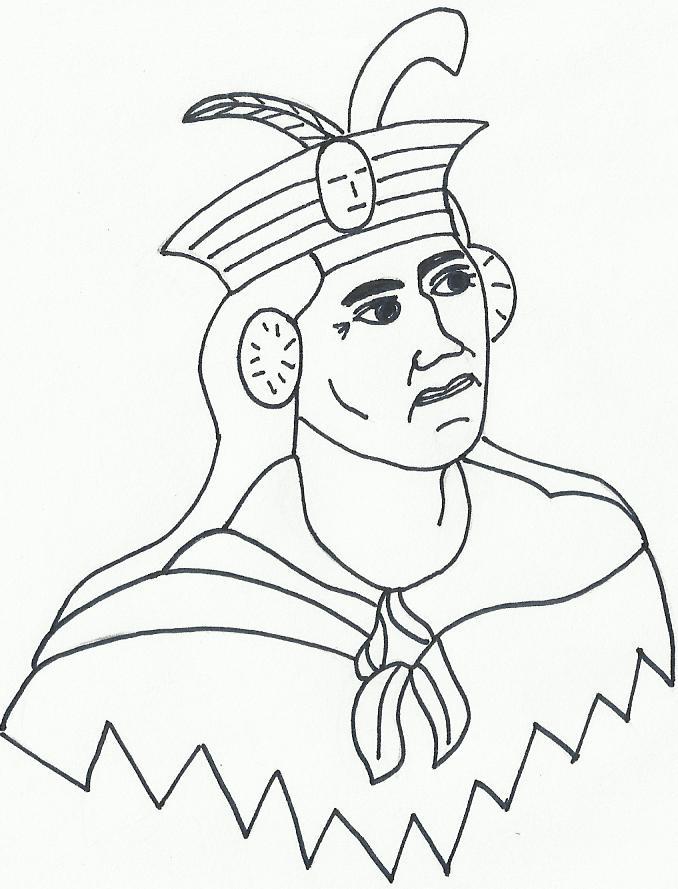 IMAGENES Y DIBUJOS PARA COLOREAR: DIBUJO: INCA MANCO CAPAC PARA COLOREAR