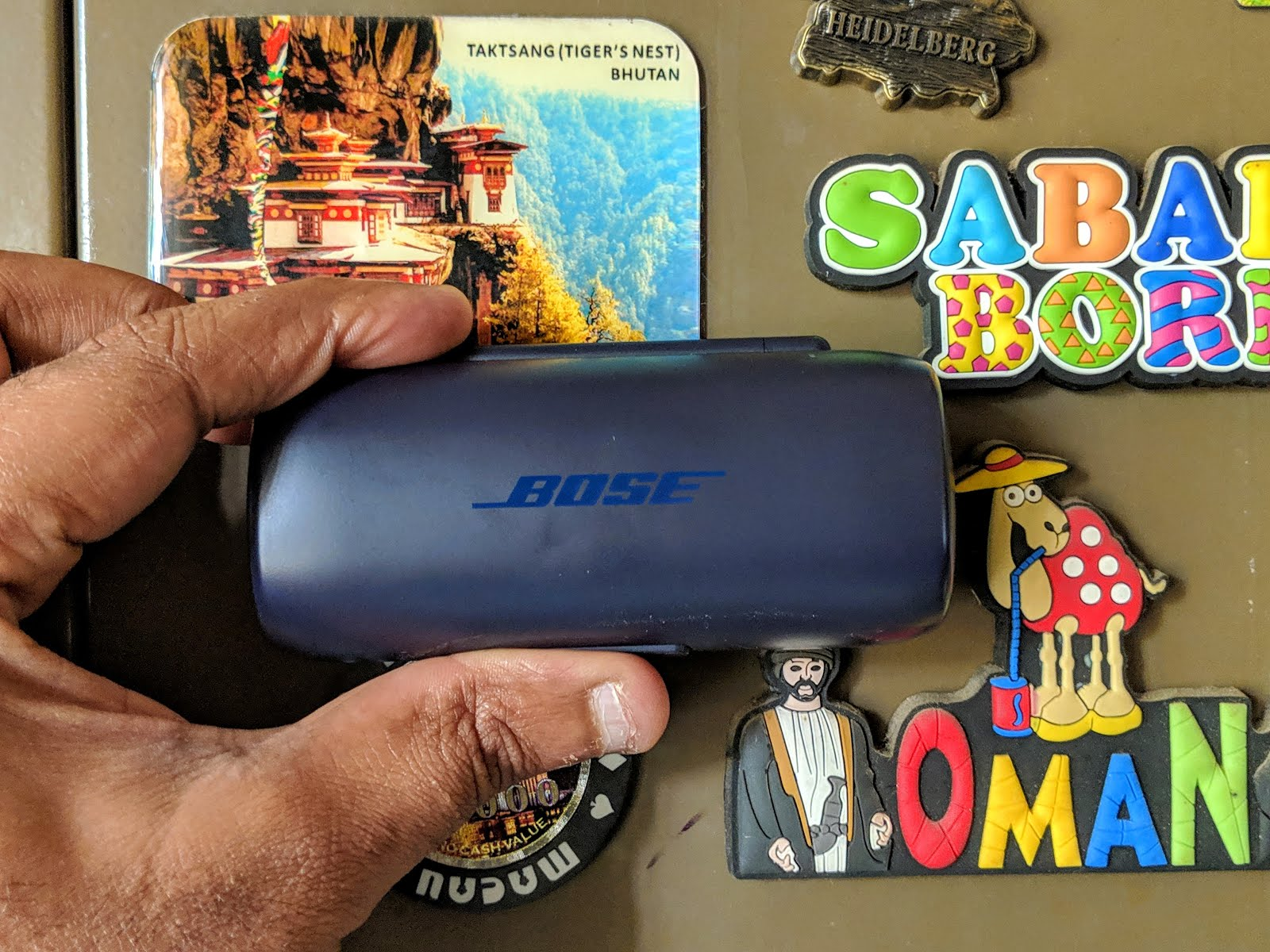 Bose earphones and the charging case