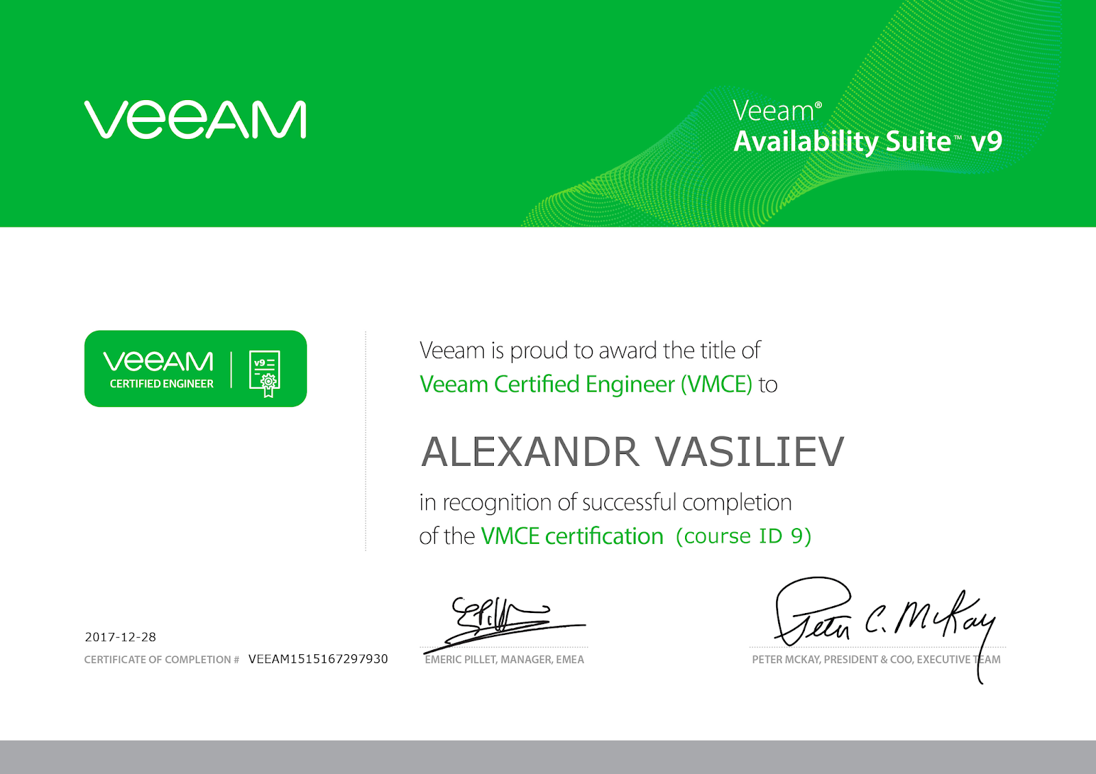 Vmcev9 Veeam Certified Engineer Vmce Certification Exam Dmz