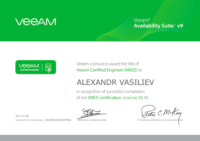 VMCE_V9 Veeam Certified Engineer (VMCE) Certification Exam