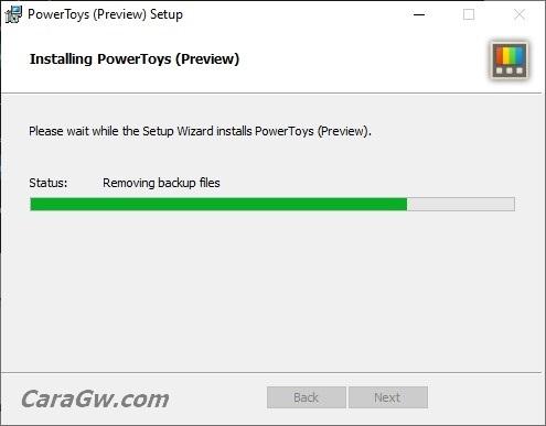 proses install Microsoft PowerToys