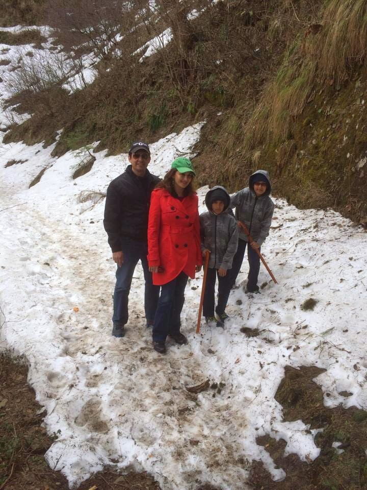 Madhuri Dixit and her family spotted at Shimla photo