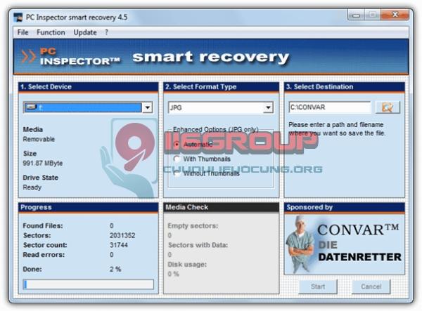 Phần mềm cứu dữ liệu máy ảnh camera Smart Recovery