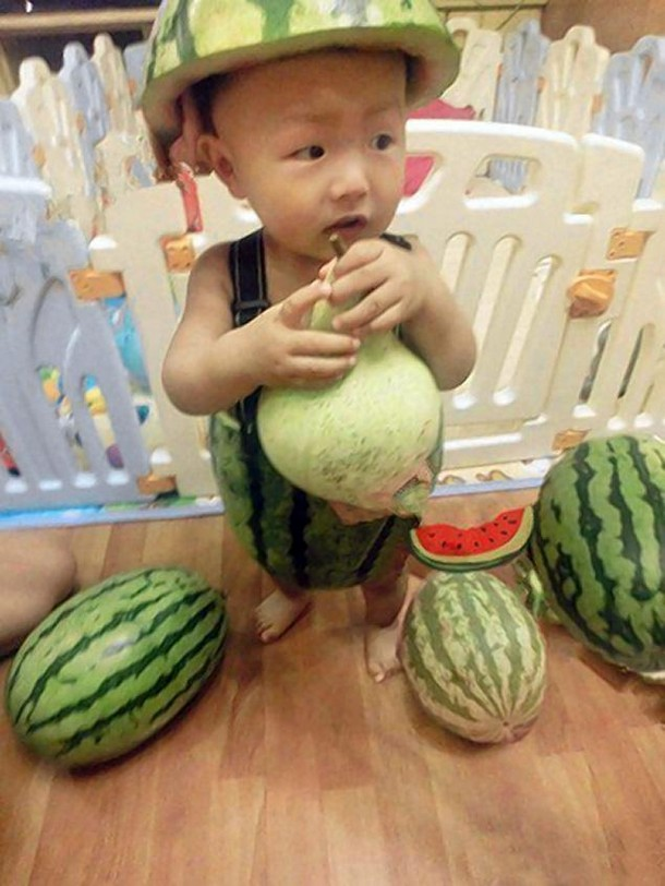 China's watermelon kids