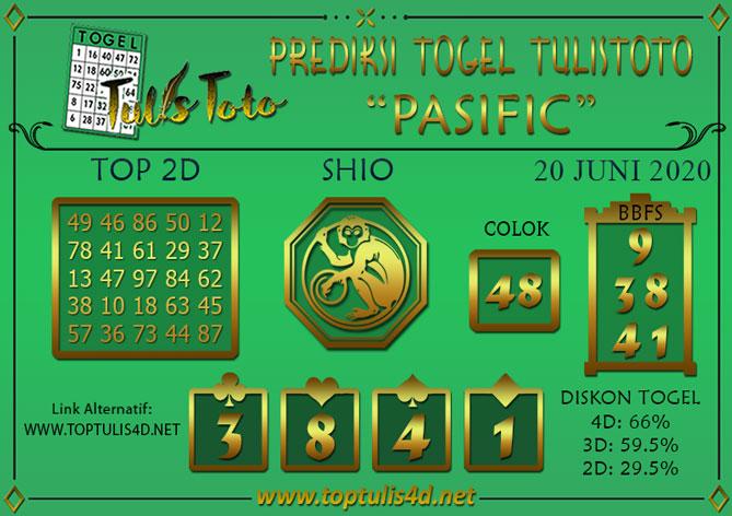 Prediksi Togel PASIFIC TULISTOTO 20 JUNI 2020