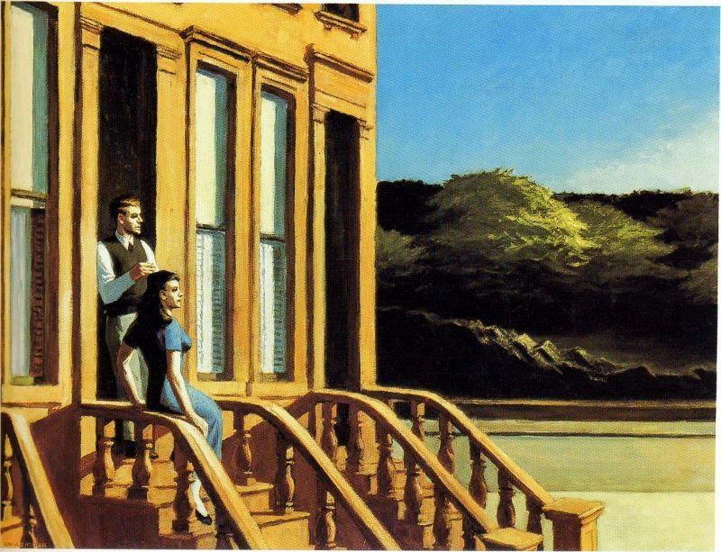Luz Solar em Brownstones - Edward Hopper e suas principais pinturas ~ O pintor da solidão