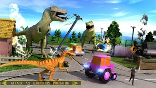 Wild Dinosaur Attack In City Apk - Free Download Android Game