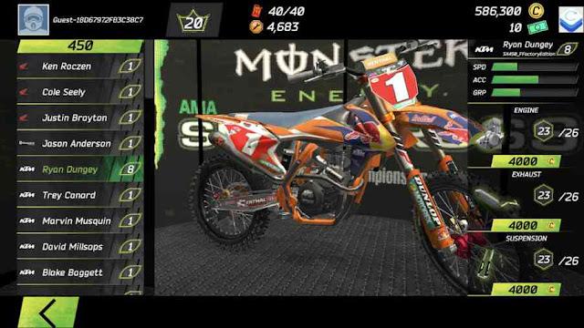 Monster energy supercross mod apk