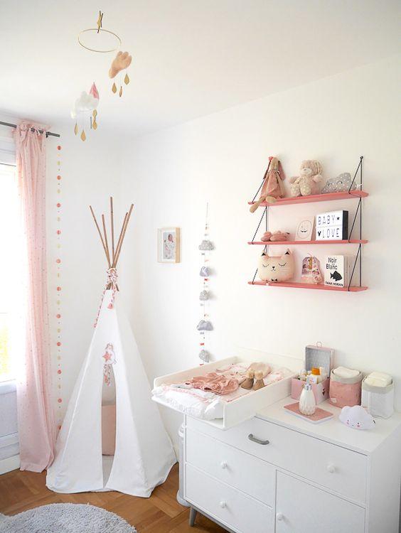 impressionnant peinture chambre fille bebe ~ idées de design